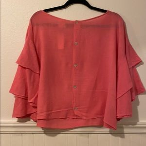 Anthropologie Lilka Cropped Blouse XL NWT